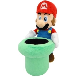 Super Mario Pluche Mario with Warp Pipe 25cm