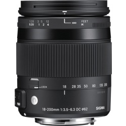 Sigma 18 200mm f 3.5 6.3 DC OS HSM Macro Contemporary Canon EF S mount objectief