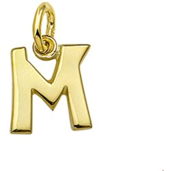 The Jewelry Collection Hanger Letter M Goud