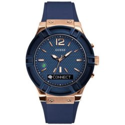GUESS Connect Smartwatch Blauw 45mm