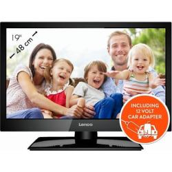 Lenco LED 1922 Televisie Full HD LED en DVB 19 inch Zwart