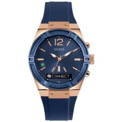GUESS Connect Hybride smartwatch Blauw 45mm