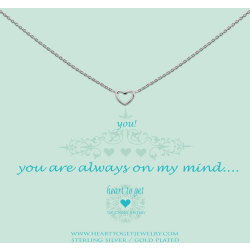 Heart to Get necklace silver open heart you are always on my mind