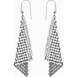 Fit Pierced Earrings Gray Rhodium plated