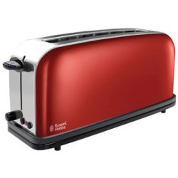 Russell Hobbs Colours Flame Red Long Slot Broodrooster