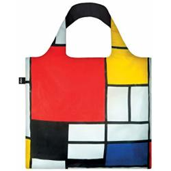 LOQI Shoppers Foldable Bag Museum Collection Rood