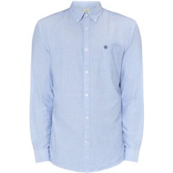 Selected Homme Heren Regular Fit Oxford Overhemd Collect In Blauw