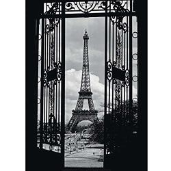 Poster 50 x 70 cm La Tour Eiffel 1909 Eiffel Tower Through Gates 1909 Eiffeltoren 1909 Anonym
