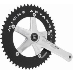 Miche Crankstel Pista Advanced 167 Mm 49t Zilver