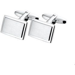 The Jewelry Collection For Men Manchetknopen Poli mat Zilver