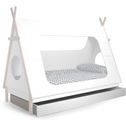 Woood tipi bedlade wit