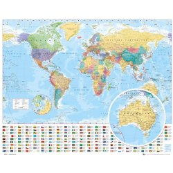 GBeye World Map 2012 Poster 50x40cm