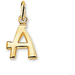 The Jewelry Collection Hanger Letter A Goud